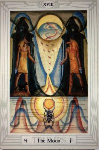 """The Moon"" (Thoth Tarot c OTO)"